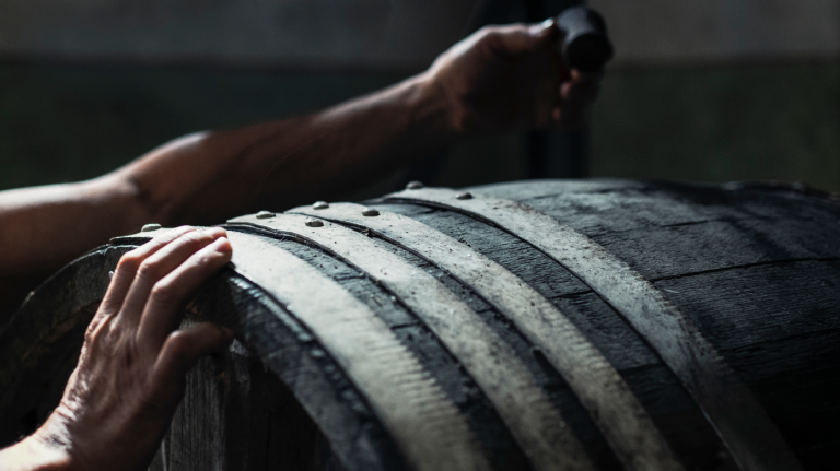 Maturing whisky in the cask